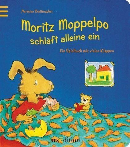 Buch mit Papp-Einband »Moritz Moppelpo schläft schon alleine ein«