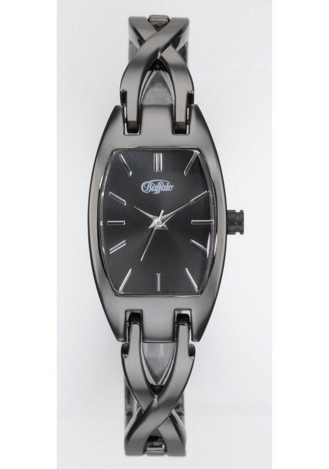 Buffalo, Armbanduhr in schwarz