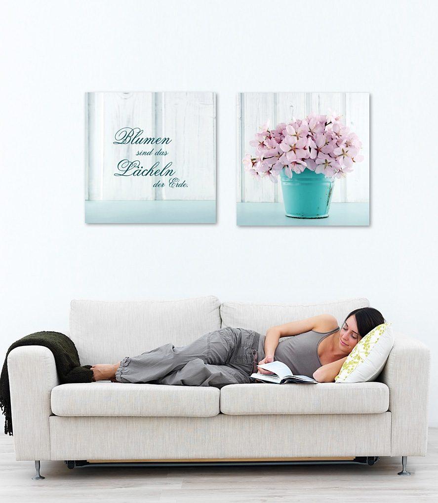 Acrylglasbild, Home affaire, Maße (B/H): 2x 30/30 cm