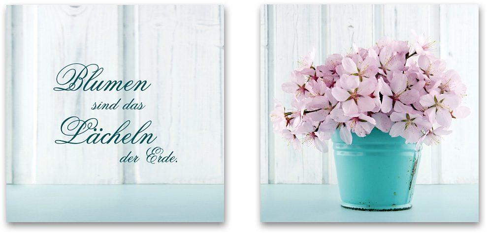 Home affaire Acrylglasbild, Maße (B/H): 2x 30/30 cm