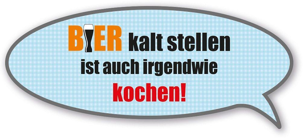 Home affaire Sprechblase »Bier kalt stellen ist auch...«, Maße (B/H): ca. 60/25 cm