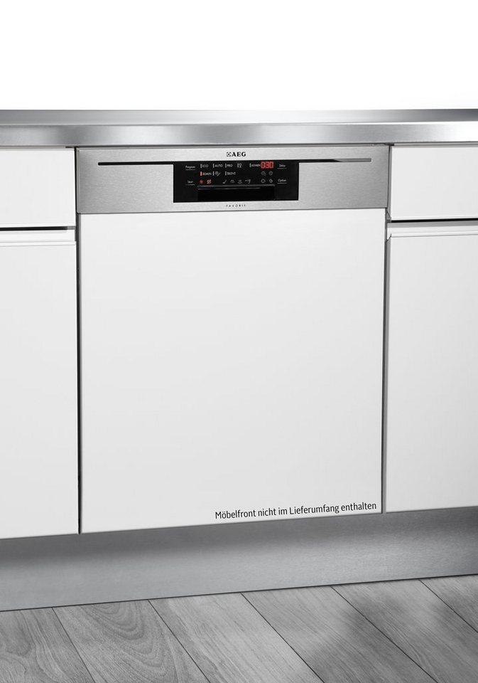 AEG Integrierbarer Geschirrspüler Favorit / F88702IM0P, A+++, 11 L, 15 Maßgedecke in Edelstahl