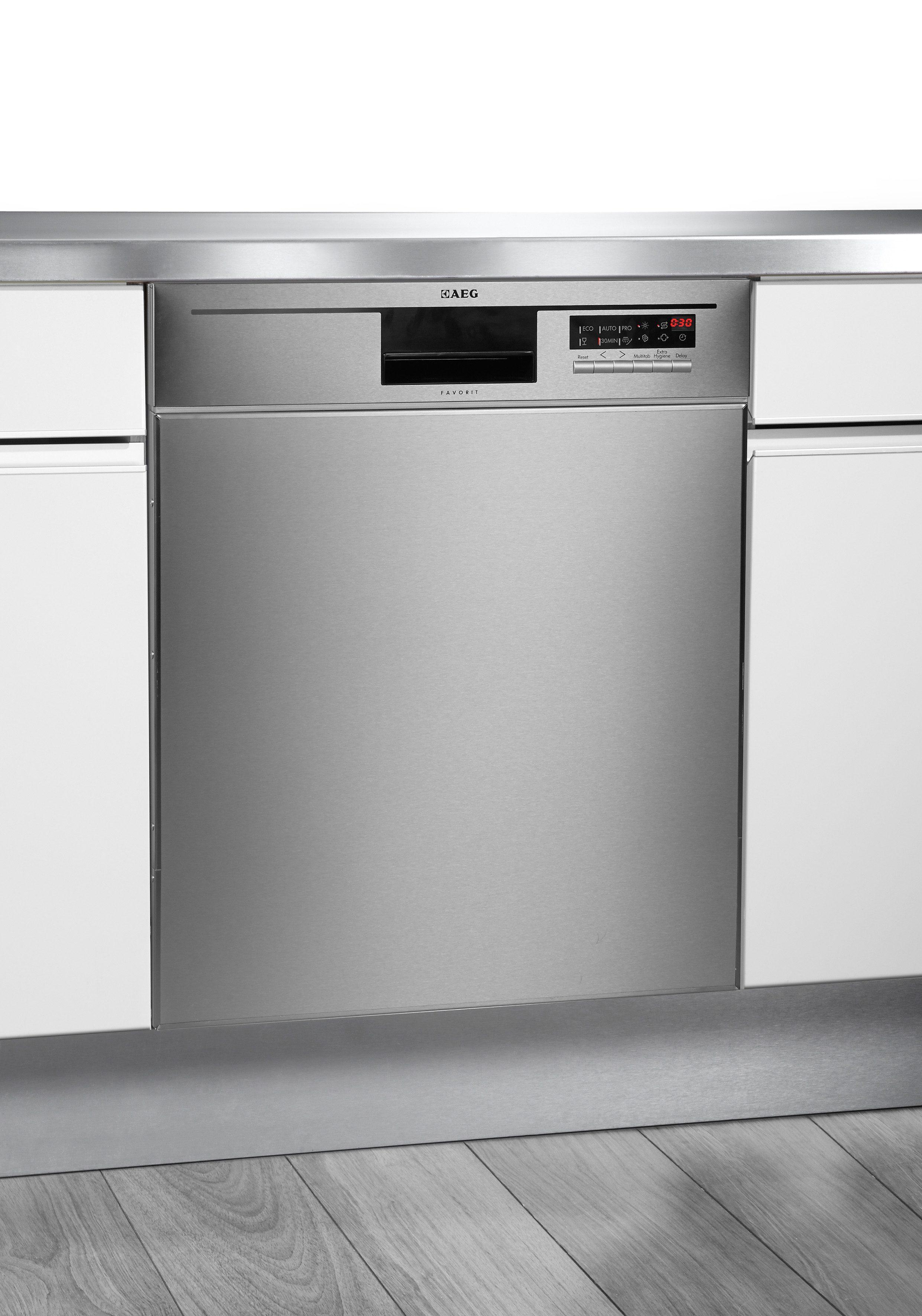 AEG Unterbau Geschirrspüler FAVORIT F56602UD0P,FUMOP, UWOP A++, 10,2 Liter, 13 Maßgedecke