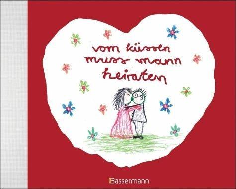 Buch mit Leinen-Einband »vom küssen muss mann heiraten«