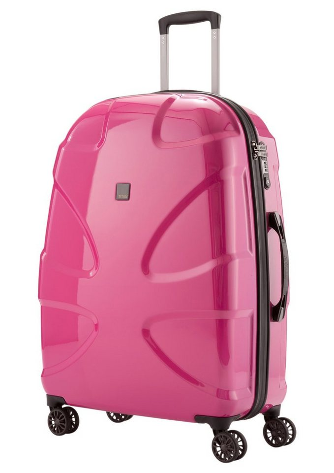 TITAN®, Hartschalen Trolley mit 4 Rollen, »X2« in pink