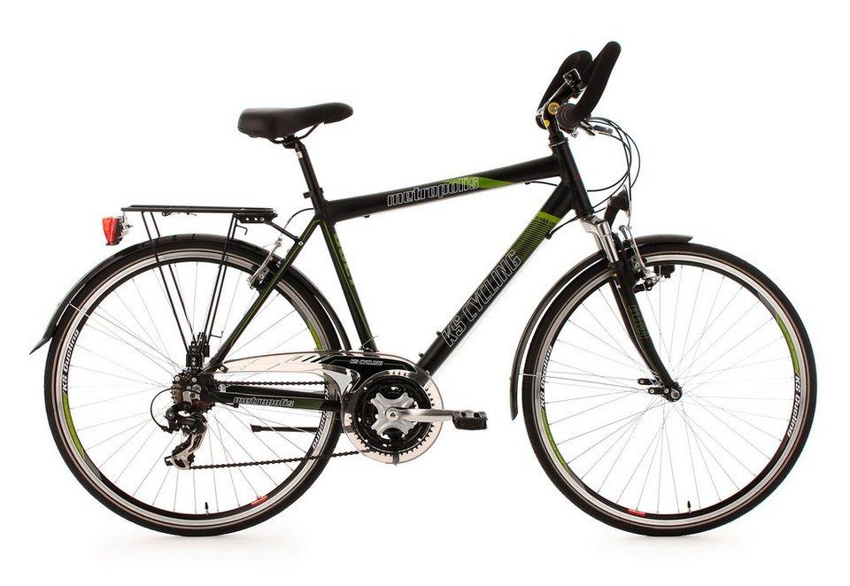 herren trekkingrad 28 zoll 21 gang kettenschaltung schwarz metropolis ks cycling online. Black Bedroom Furniture Sets. Home Design Ideas