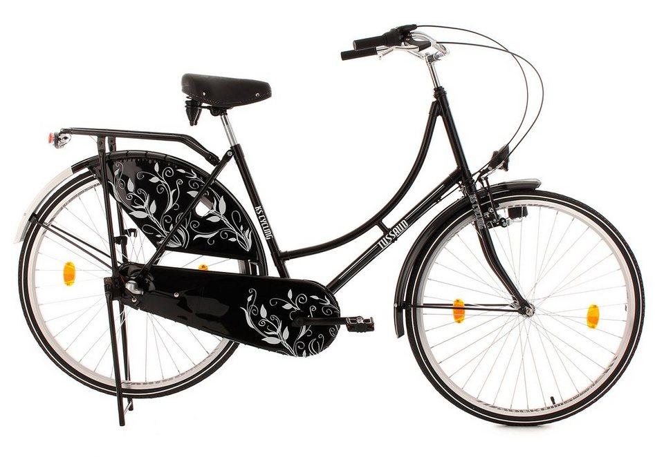 Hollandrad, 28 Zoll, 3 Gang Nabenschaltung, schwarz, »Tussaud Bellefleur«, KS Cycling in schwarz