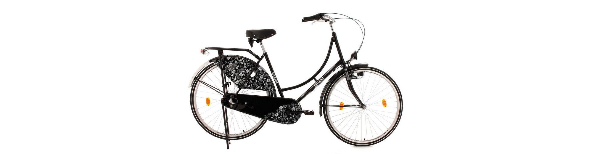 Hollandrad, 28 Zoll, schwarz, 3 Gang Nabenschaltung, »Tussaud Blütezeit«, KS Cycling