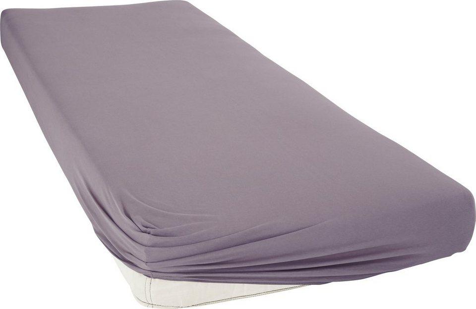 Spannbettlaken, Bellana, »Mako-Jersey«, hochwertiger Premium-Stretch in grau