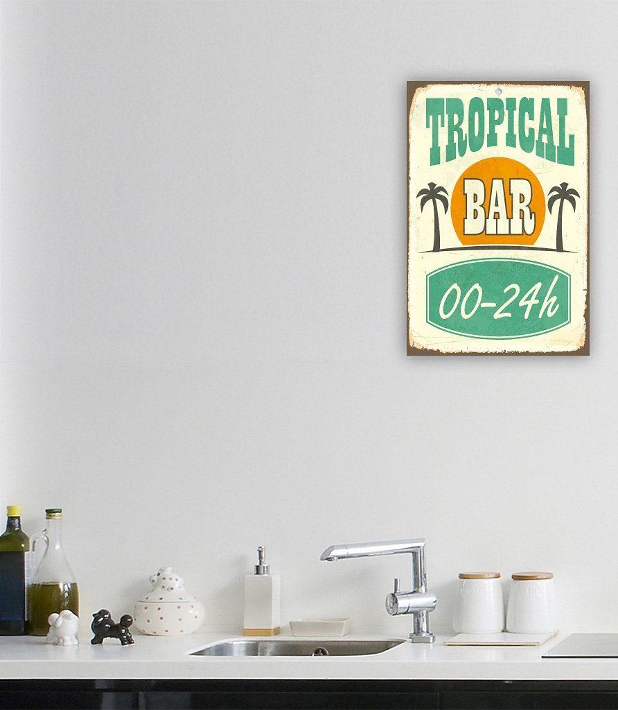 Stahlschild, Home affaire, »Tropical Bar«, Maße (B/H): ca. 30/45 cm