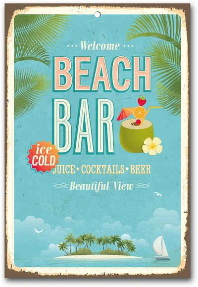 Home affaire Metallbild »Beach Bar«, Maße (B/H): ca. 30/45 cm