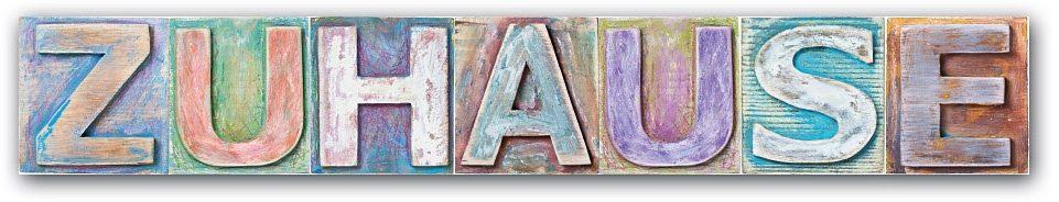 Schriftzug, Home affaire, »Zuhause«, Maße (B/H): ca. 60/13 cm