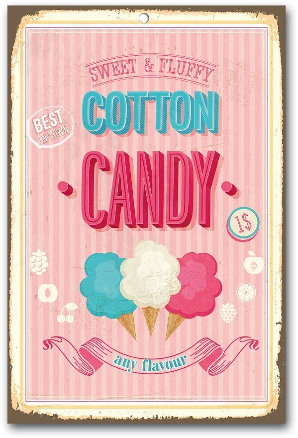Stahlschild, Home affaire, »Cotton Candy«, Maße (B/H): ca. 30/45 cm