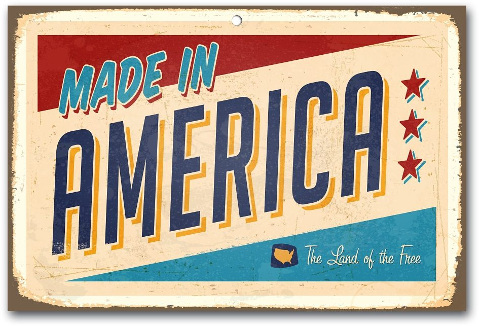 Home affaire Stahlschild »Made in America«, Maße (B/H): ca. 45/30 cm