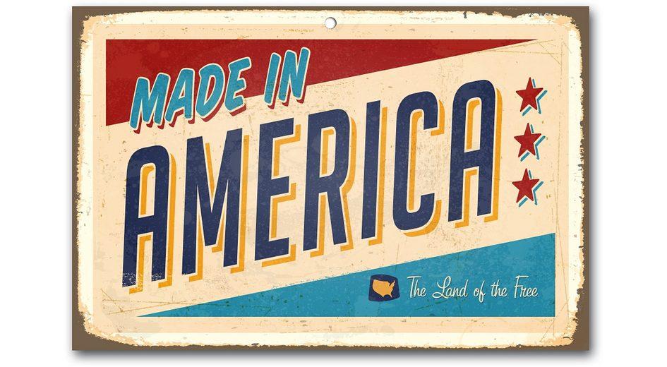 Stahlschild, Home affaire, »Made in America«, Maße (B/H): ca. 45/30 cm