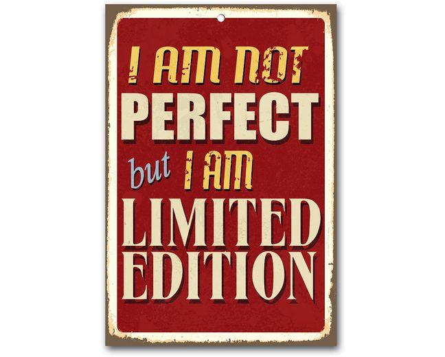Stahlschild, Home affaire, »I am not perfect …«, Maße (B/H): ca. 30/45 cm