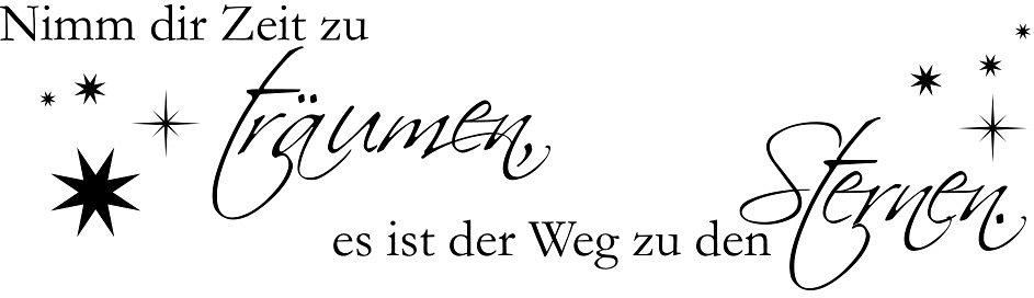 Wandtattoo, Home affaire, »Nimm dir Zeit zu träumen...«, Maße (B/H): ca. 120/30 cm in schwarz