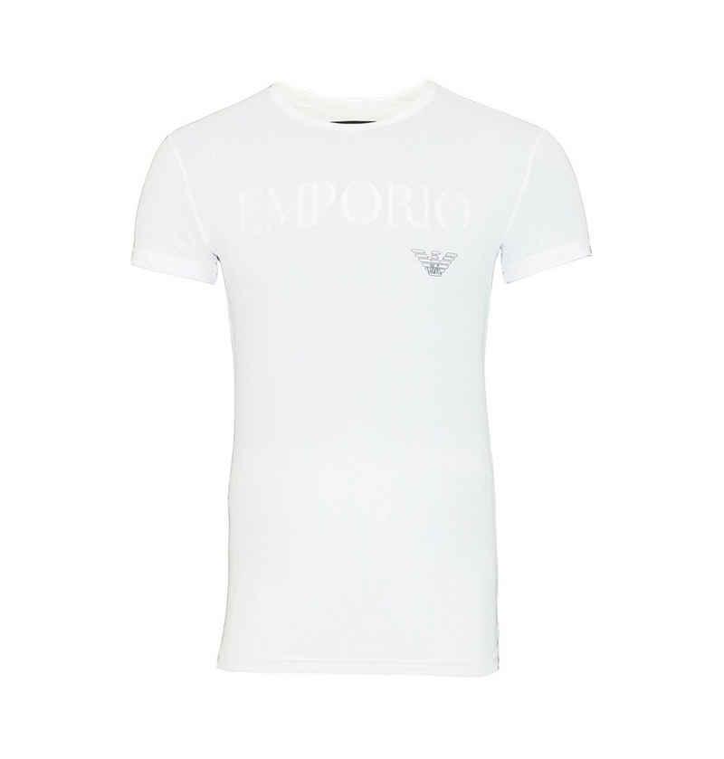 Emporio Armani T-Shirt »Rundhals mit großem Schriftzug«