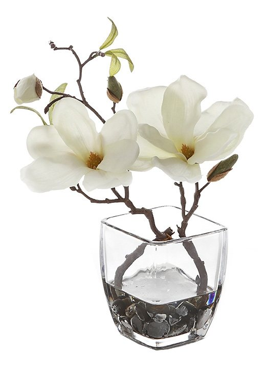 Home affaire Kunstblume »Magnolie« in weiß