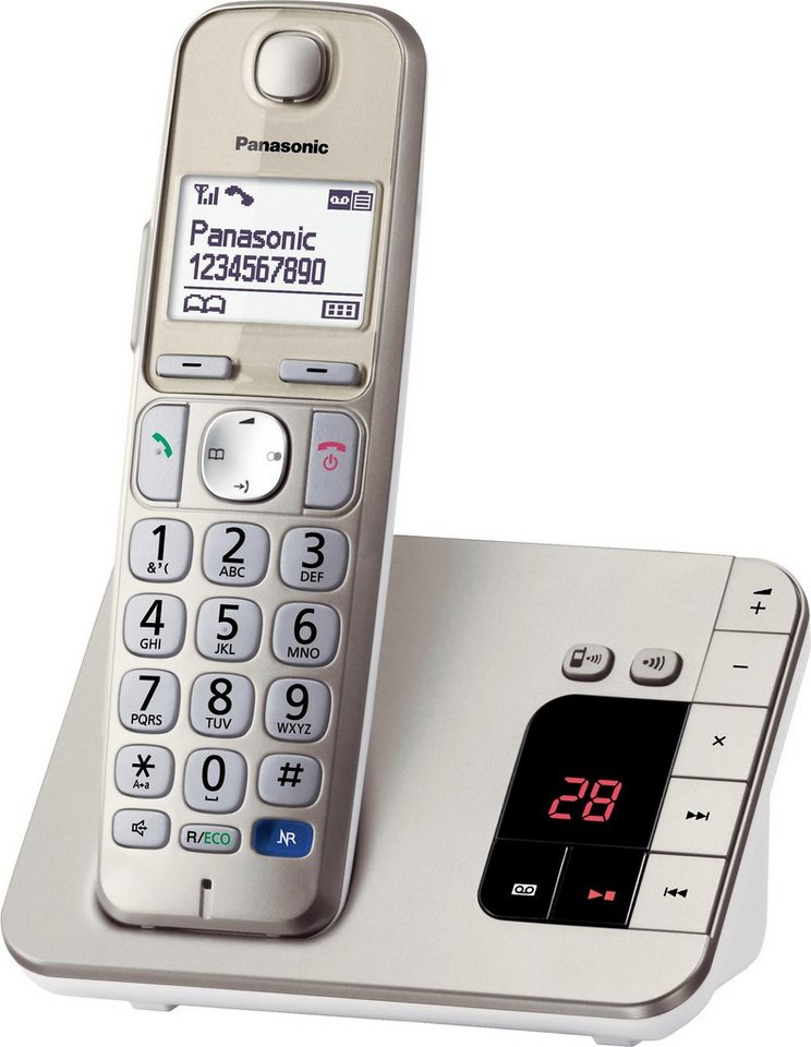 Panasonic KX-TGE220GN Schnurloses DECT Telefon mit AB in champagner