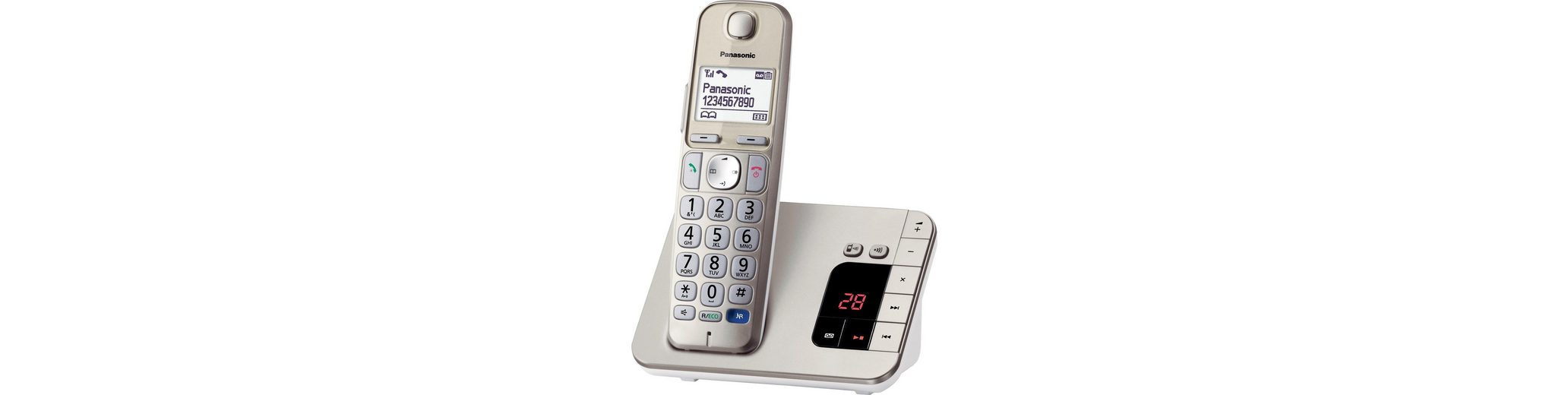 Panasonic KX-TGE220GN Schnurloses DECT Telefon mit AB