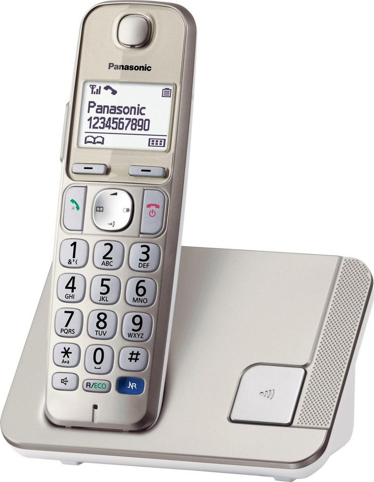 Panasonic KX-TGE210GN Schnurloses DECT Telefon in champagner