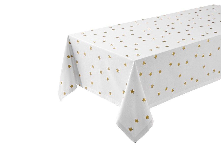 heine home Tischläufer in weiß/goldfarben