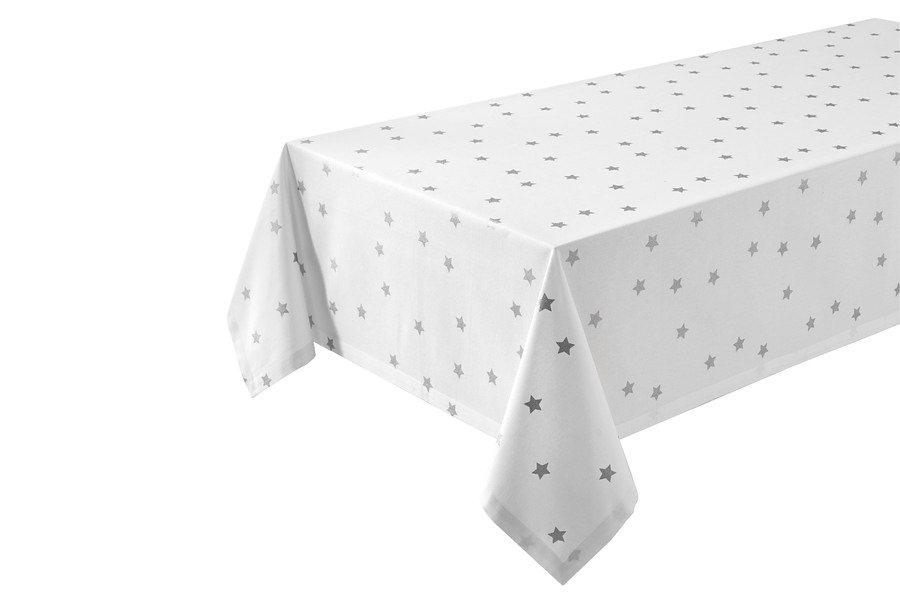Tischläufer in weiß/silberfarben