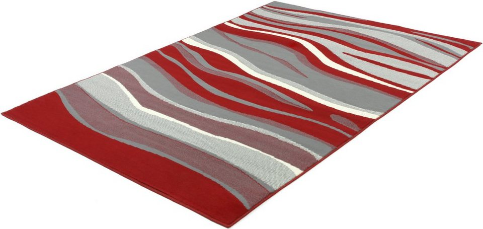 Teppich, Trend Teppiche, »LIMES-502279« in red