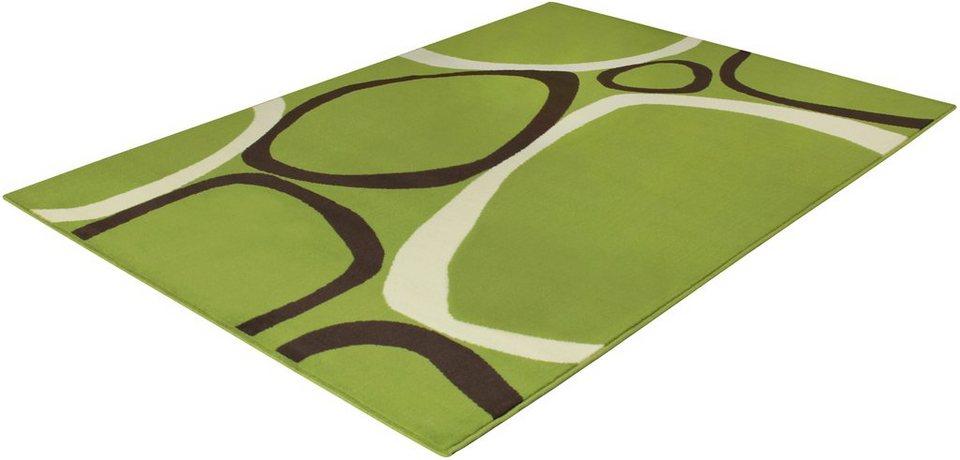 Teppich, Trend Teppiche, »CIRCLES-501074« in lime