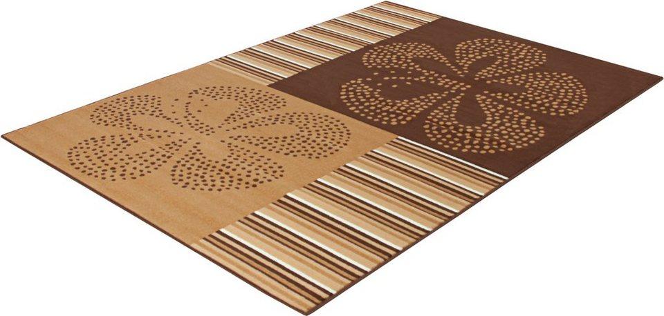 Teppich, Trend Teppiche, »FLOWERS-502356« in braun