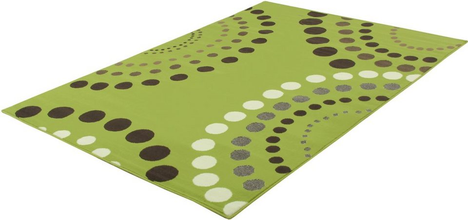 Teppich, Trend Teppiche, »CIRCLES-500420« in lime