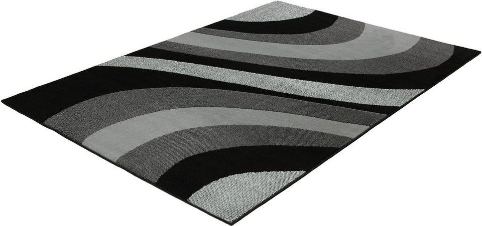 Teppich, Trend Teppiche, »LIMES-501004« in black