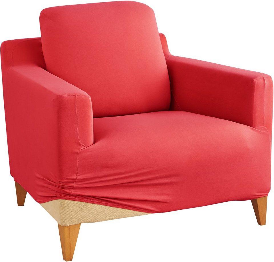 Sesselhusse, my home, »Marvin«, mit unifarbenem Design in bordeaux