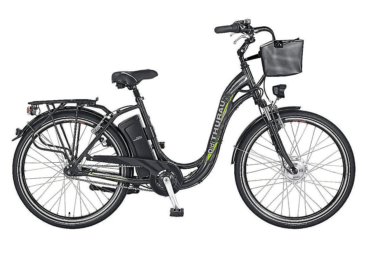 E-Bike City, 28 Zoll, 3 Gang-SHIMANO-Nabenschaltung, »Alu-City Comfort«, Didi Thurau Edition