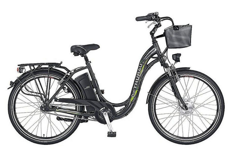 E-Bike City, 28 Zoll, 7 Gang-SHIMANO-Nabenschaltung, »Alu-City Comfort 7«, Didi Thurau Edition