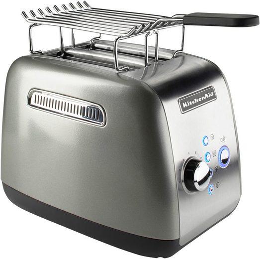 KitchenAid Toaster 5KMT221ECU mit Brötchenaufsatz und Sandwichzange, für 2 Scheiben, 1100 W