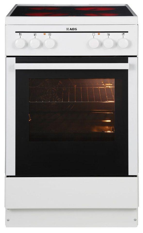 AEG Standherd 40095VA-WN/COMPETENCE, A, 50 cm breit in Weiß