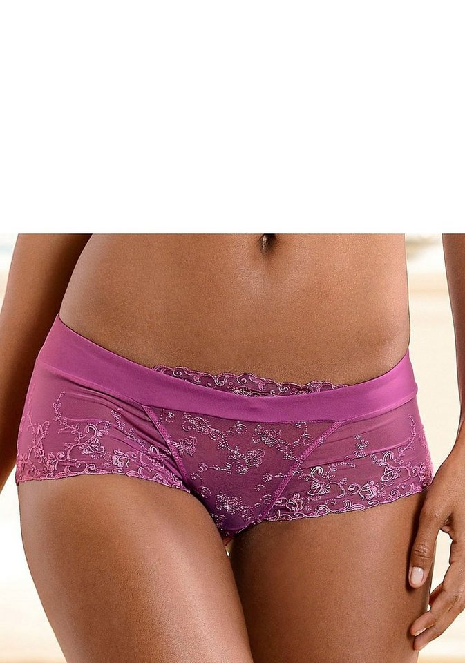 Nuance Panty mit Stickereispitze in radiant orchid