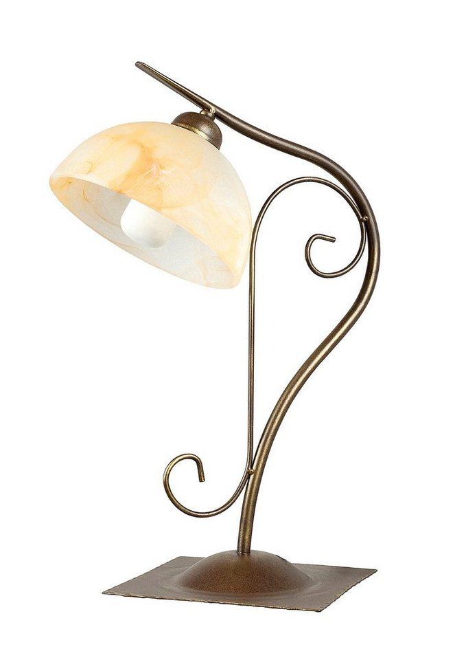 Tischlampe, »Armgard«, Rabalux (1flg.) in braun/creme