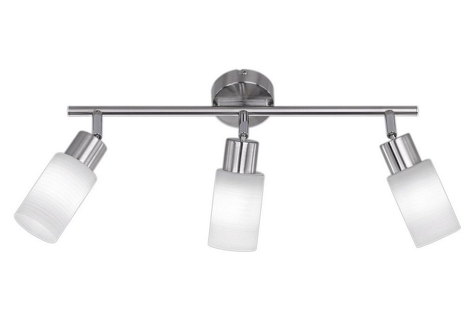LED-Deckenlampe, Trio (3flg.) in nickel matt