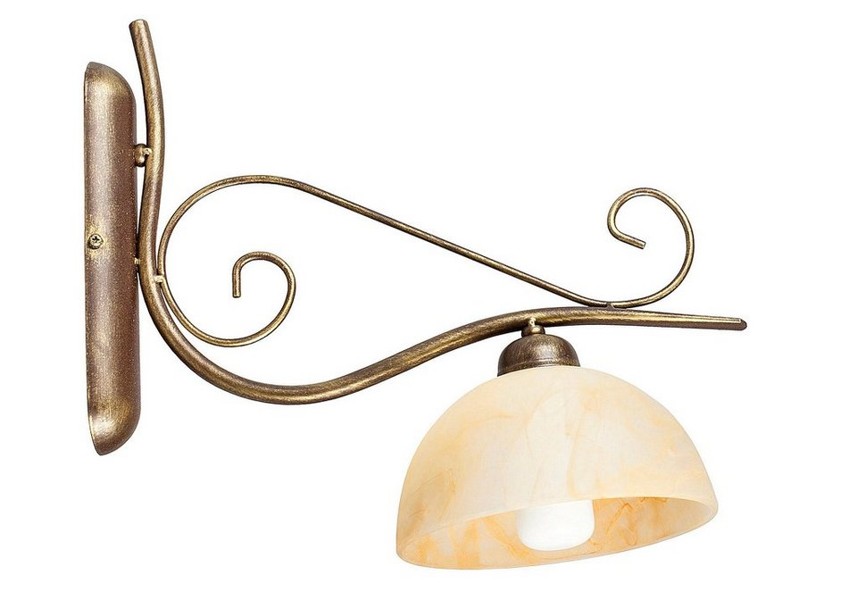 Wandlampe, »Armgard«, Rabalux (1flg.) in braun/creme