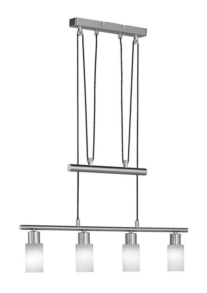 LED-JoJo-Pendellampe, Trio (4flg.) in nickel matt