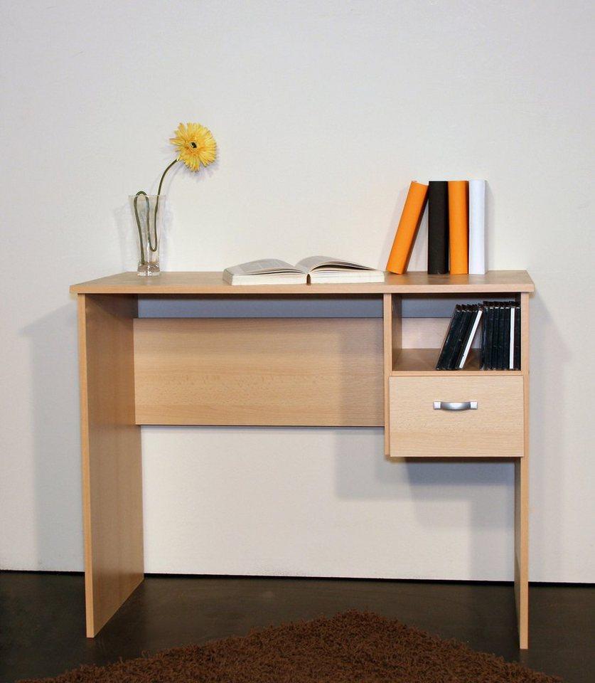 schreibtisch flo mit 1 schubkasten online kaufen otto. Black Bedroom Furniture Sets. Home Design Ideas
