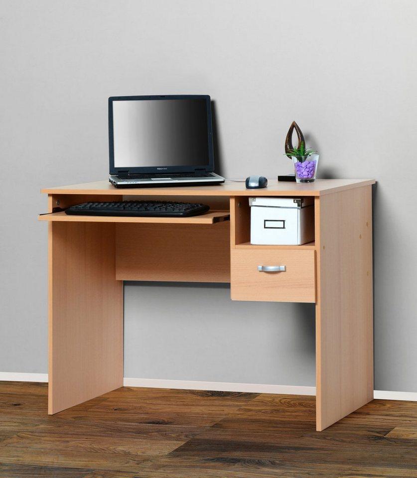 Schreibtisch » Flo 1« mit Tastaturauszug | Büro > Bürotische > Schreibtische | OTTO