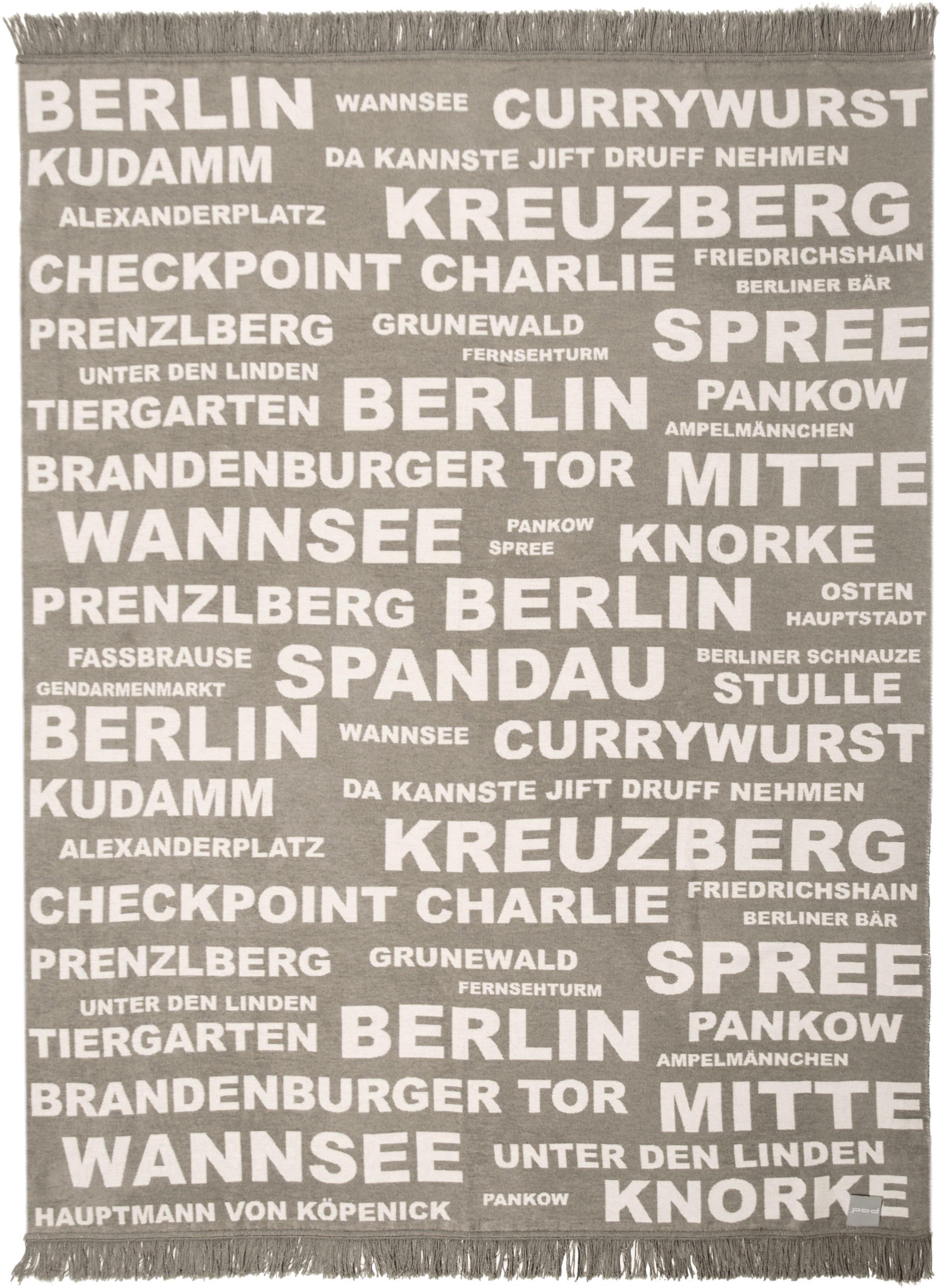 Wohndecke, Pad, »Berlin«, mit Schriftzügen