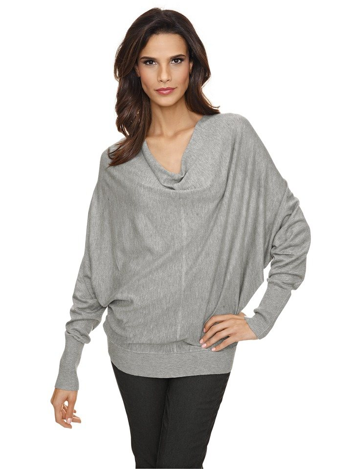 Oversized-Pullover in grau-melange