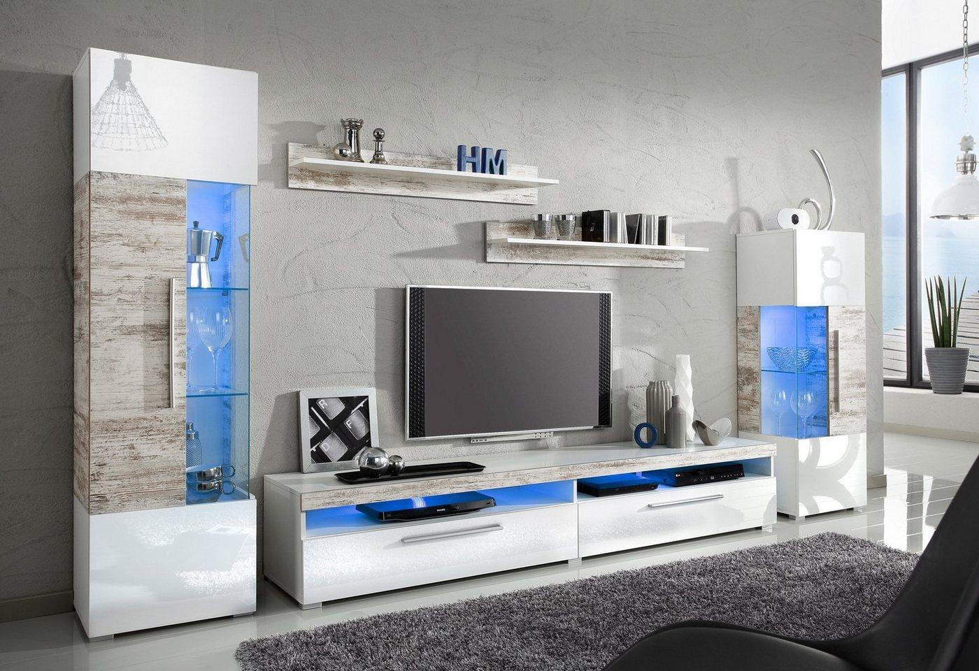 Suche Moderne Wohnwand : otto wohnwand 5 tlg wohnwand bestehend aus 2 vitrinen 1 lowboard 2