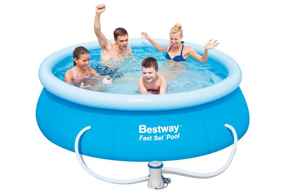 Pool, 244 x 66 cm, »Fast Set Familienpool 244«, Bestway in blau