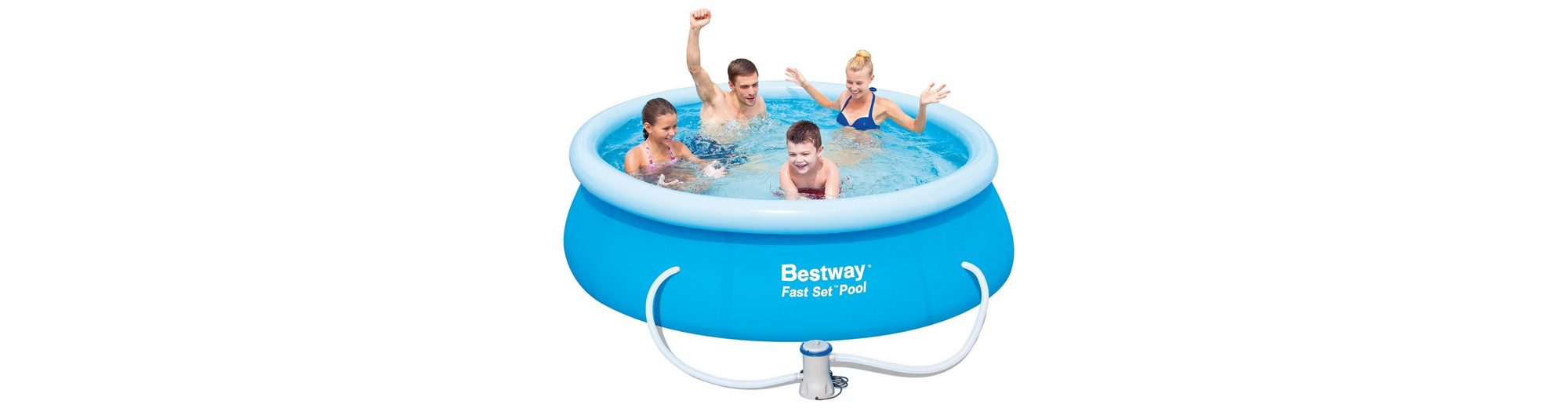 Pool, 244 x 66 cm, »Fast Set Familienpool 244«, Bestway
